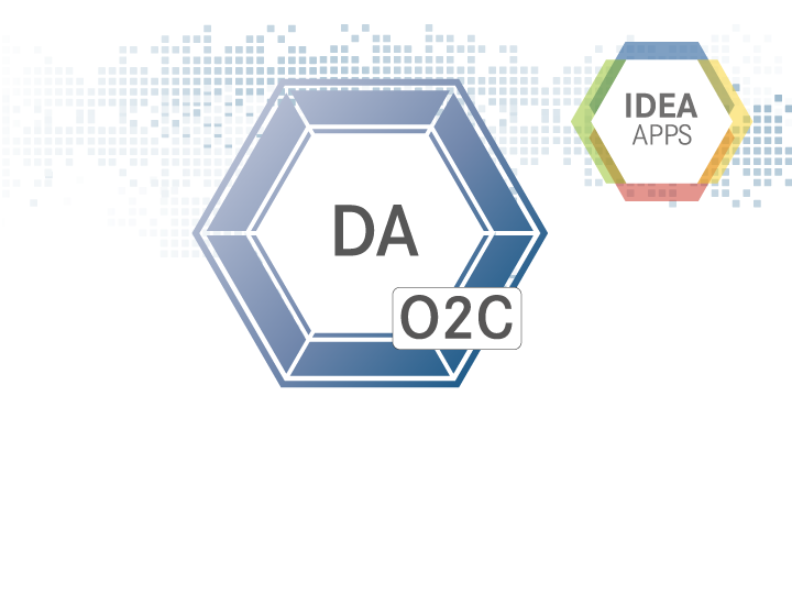 IDEA App Data Analytics O2C Produkticon